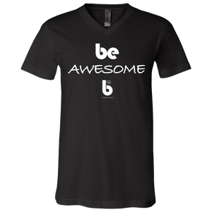 Be Awesome Unisex Jersey SS V-Neck T-Shirt