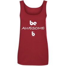 Load image into Gallery viewer, Be Awesome Ladies' 100% Ringspun Cotton Tank Top