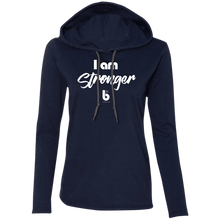 Load image into Gallery viewer, I am Stronger Ladies' LS T-Shirt Hoodie