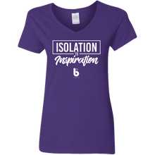 Load image into Gallery viewer, Isolation to Inspiration  Ladies' 5.3 oz. V-Neck T-Shirt