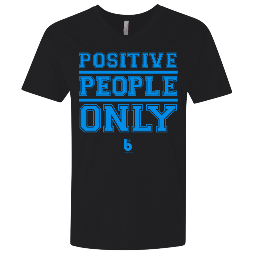 Only Positive Men's Premium Fitted SS V-Neck