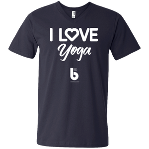 Love Yoga Men's Printed V-Neck T-Shirt
