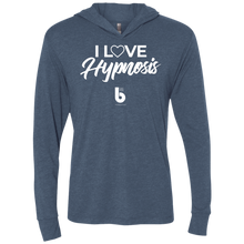 Load image into Gallery viewer, I Love HypnosisUnisex Triblend LS Hooded T-Shirt
