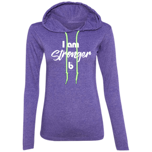 I am Stronger Ladies' LS T-Shirt Hoodie