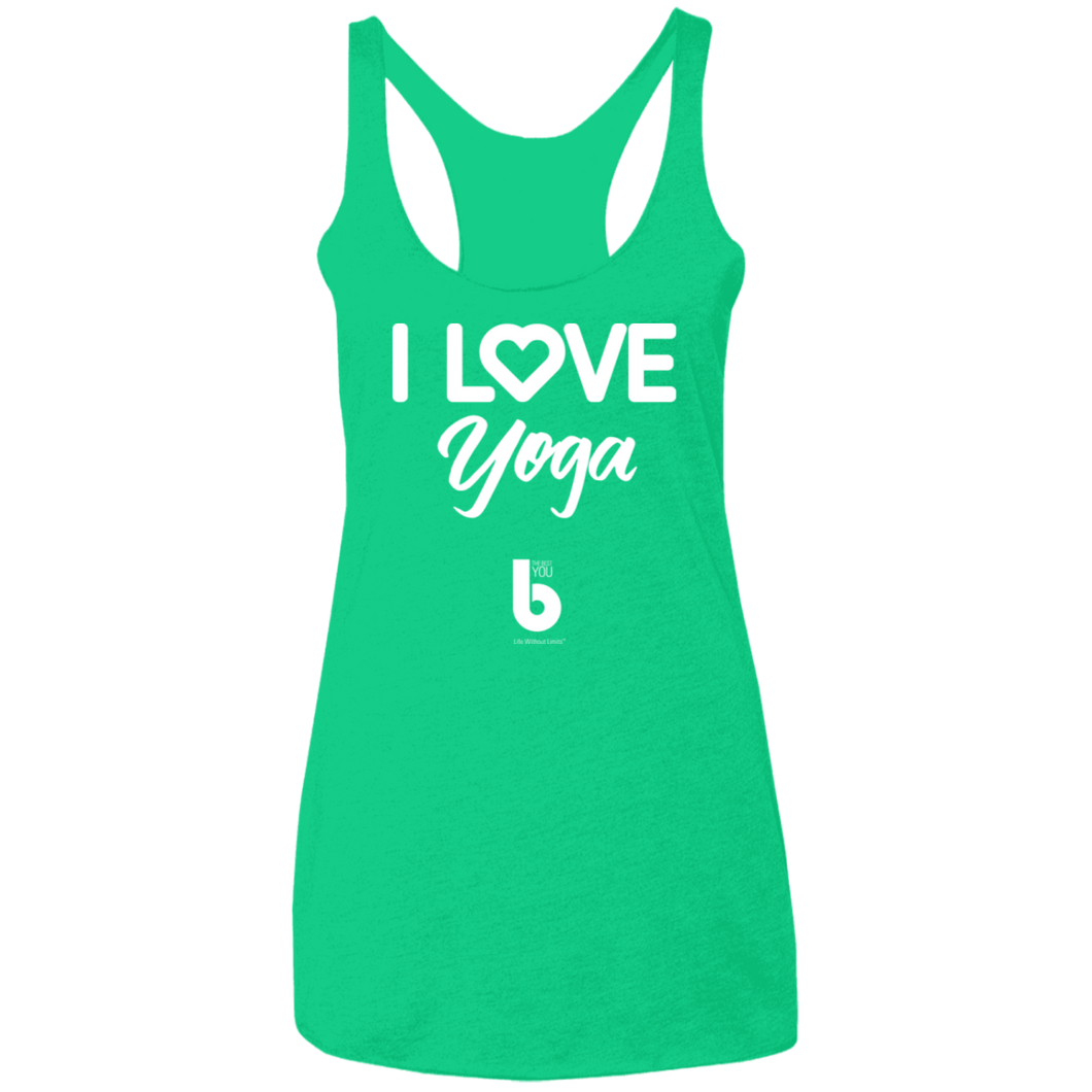 Love Yoga Ladies' Triblend Racerback Tank