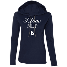 Load image into Gallery viewer, Love NLP  Ladies' LS T-Shirt Hoodie