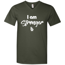 Load image into Gallery viewer, I am StrongerMen's Printed V-Neck T-Shirt