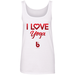 Love Yoga  Ladies' 100% Ringspun Cotton Tank Top