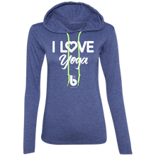 Load image into Gallery viewer, Love Yoga  Ladies' LS T-Shirt Hoodie
