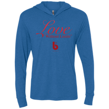 Load image into Gallery viewer, Love Without Limits Unisex Triblend LS Hooded T-Shirt