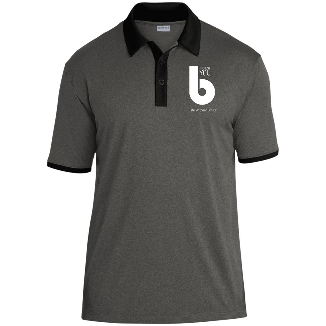 The Best You ST667 Heather Contender Contrast Polo