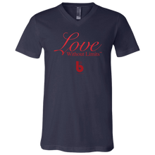 Load image into Gallery viewer, Love Without Limits Unisex Jersey SS V-Neck T-Shirt