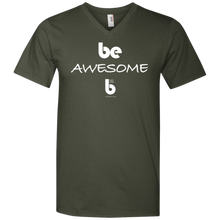 Load image into Gallery viewer, Be Awesome  Printed V-Neck T-Shirt