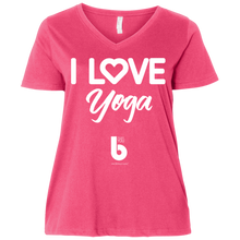 Load image into Gallery viewer, Love Yoga Ladies' Curvy V-Neck T-Shirt