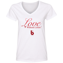 Load image into Gallery viewer, Love Without Limits Ladies' V-Neck T-Shirt