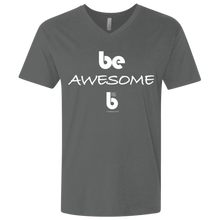 Load image into Gallery viewer, Be Awesome Men's Premium Fitted SS V-Neck