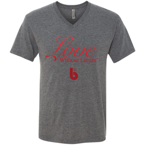 Love Without Limits  Men's Triblend V-Neck T-Shirt