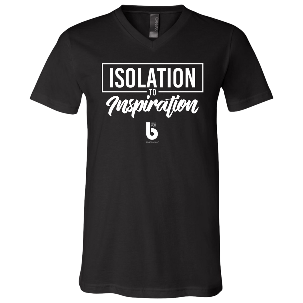 Isolation Unisex Jersey SS V-Neck T-Shirt
