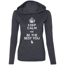 Load image into Gallery viewer, Keep Calm  Ladies' LS T-Shirt Hoodie