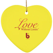 Load image into Gallery viewer, Love Without Limts SUBORNH Ceramic Heart Ornament