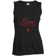 Load image into Gallery viewer, Love Without Limits LST352 Ladies' Sleeveless Moisture Absorbing V-Neck