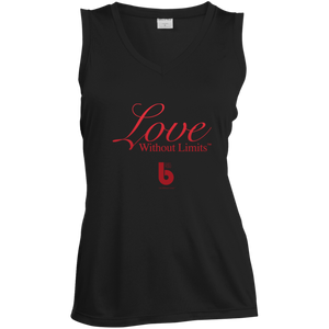Love Without Limits LST352 Ladies' Sleeveless Moisture Absorbing V-Neck