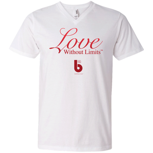 Love Without Limits Men's Printed V-Neck T-Shirt