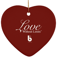 Load image into Gallery viewer, Love Without Limits SUBORNH Ceramic Heart Ornament