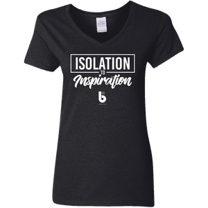 Isolation to Inspiration  Ladies' 5.3 oz. V-Neck T-Shirt