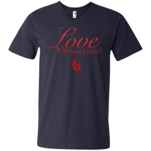 Load image into Gallery viewer, Love Without Limits Men's Printed V-Neck T-Shirt
