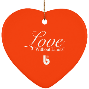 Love Without Limits SUBORNH Ceramic Heart Ornament