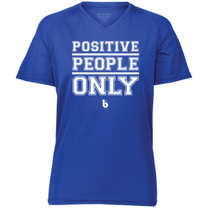 Positive People Only Ladies' Raglan Sleeve Wicking T-Shirt