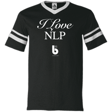 Load image into Gallery viewer, I Love NLP  V-Neck Sleeve Stripe Jersey