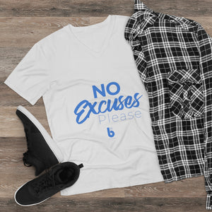 No Excuses Men's Lightweight V-Neck Tee