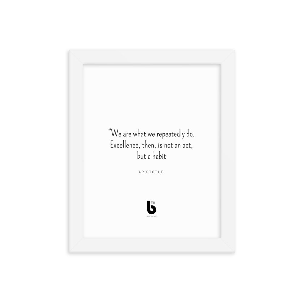 Aristotle Quote Framed poster
