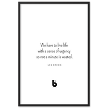 Load image into Gallery viewer, Les Brown Quote - Framed matte paper poster