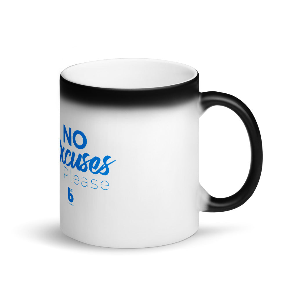 No Excuses Matte Black Magic Mug