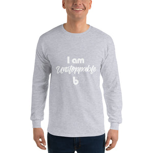 I am unstoppable Men's Long Sleeve Shirt