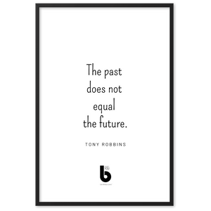 Tony Robbins Quote - Framed matte paper poster