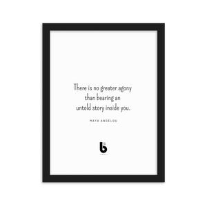 Maya Angelou Quote - Framed matte paper poster