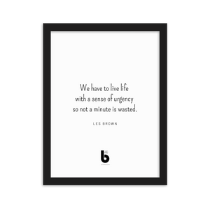 Les Brown Quote - Framed matte paper poster