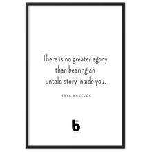 Load image into Gallery viewer, Maya Angelou Quote - Framed matte paper poster