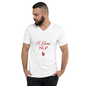 I Love NLP Unisex Short Sleeve V-Neck T-Shirt