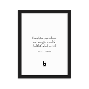 Michael Jordan Quote - Framed matte paper poster