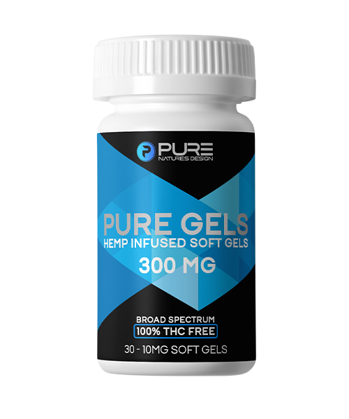 Pure Gels<BR>Hemp Infused Soft Gels<BR/>300mg