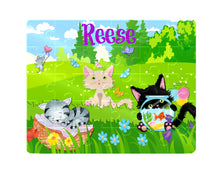 Load image into Gallery viewer, Puzzle, Kids Puzzle, Cat Puzzle, Children's Custom Puzzle, Personalized Puzzle, Learning Toy, Educational Toy, Kid Gift, Name Puzzle, Gift