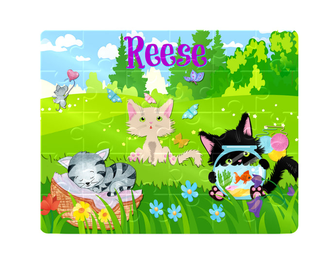 Puzzle, Kids Puzzle, Cat Puzzle, Children's Custom Puzzle, Personalized Puzzle, Learning Toy, Educational Toy, Kid Gift, Name Puzzle, Gift