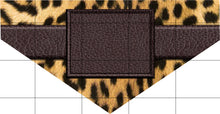 Load image into Gallery viewer, Leopard Dog Bandana Over the Collar, Personalized, Includes Collar, Custom Pet Bandana, Personalized Pet Scarf, Pet Owner Gift, New Dog, Choose Size
