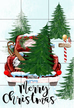Load image into Gallery viewer, Red Christmas Truck Garden Flag, Personalized Garden Flag, Christmas Garden Flag, Family Gift, Custom Garden Flag, Christmas Decor