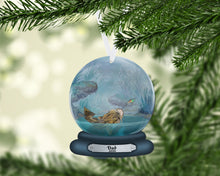 Load image into Gallery viewer, Catfish Snow Globe Christmas Ornament, Personalized Ornament, Custom Christmas Holiday, Name Ornament, Gift for Dad, Man Gift, Man Christmas
